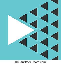 一, 三角形, 很多, vs