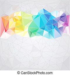 三角形, 風格, 摘要, 背景, 三角形