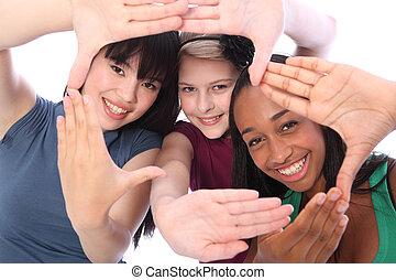 三, 文化, 學生, 种族, 樂趣, 女朋友