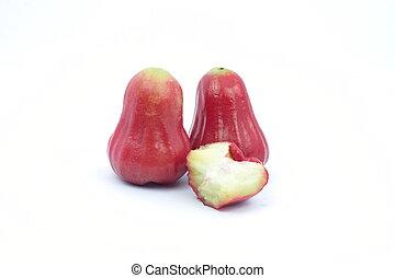 上升, 白色, 蘋果, 背景, 被隔离