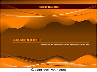 上色, 摘要, 插圖, 背景。, 矢量, 沙漠, 高技術