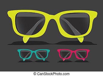 上色, 眼鏡