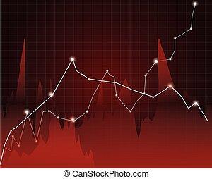下來, 圖表, 股票