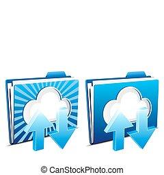 下載, upload, 雲, 計算