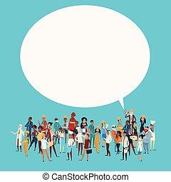 不同, 組, 网絡, 人們, 旗幟, 雇員, 混合, 比賽, 閒談, 通訊, 氣泡, 工人, 職業