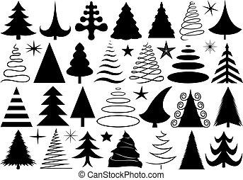 不同, 集合, 聖誕樹