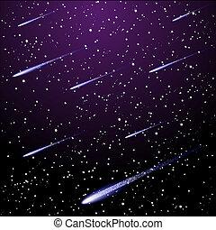 不滿星星的, 夜晚天空