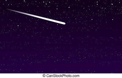 不滿星星的, 彗星, 天空, 夜晚