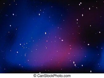 不滿星星的, 摘要, 天空, 夜晚, 設計