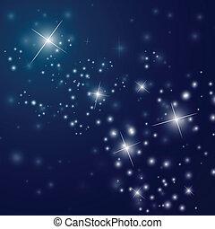 不滿星星的, 摘要, 天空, 夜晚