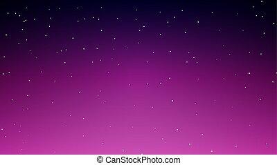 不滿星星的, 摘要, 天空, 藍色紫羅蘭色背景, 夜晚