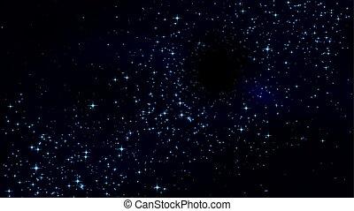 不滿星星的, 洞, 夜晚天空, 黑色
