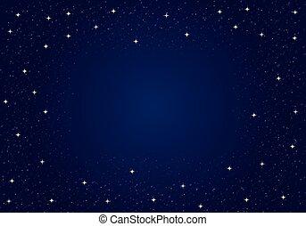 不滿星星的, 矢量, 天空, 夜晚