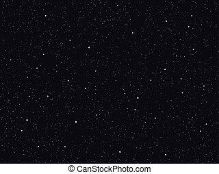不滿星星的, 矢量, 天空, 背景, 夜晚