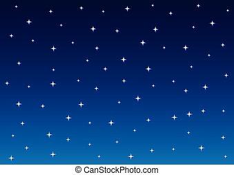 不滿星星的, 背景, 夜晚天空