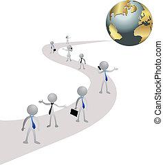 世界事務, 路, 人們