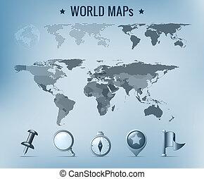 世界地圖, 矢量