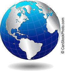世界, 全球, 北方南方, 美國