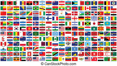 世界, 按字母順序, 旗
