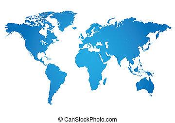 世界, 插圖, 地圖