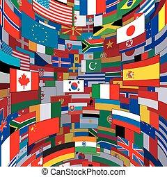世界, 旗, 背景