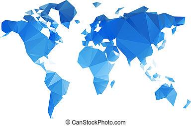 世界, 矢量, 三角形, 文件, 地圖