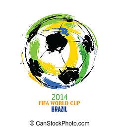 世界, 足球, 背景, 杯子
