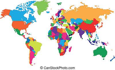 世界, corolful, 地圖