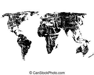 世界, grunge, 地圖