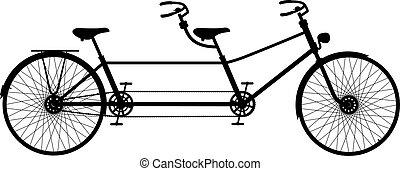 串聯的自行車, retro