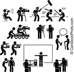 主任, 做, 适于拍照, 演員, 電影