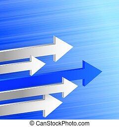 主要, 設計, 背景, 3d, 箭, 方向, 向前