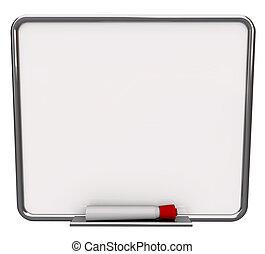 乾燥抹除板, 空白, 記號, 白色紅