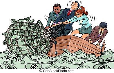 事務, 漁夫, 利潤, 相象, 錢网, 做, 隊, 金融, 抓住