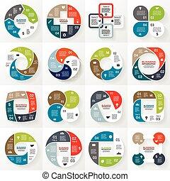 事務, infographic, 圖形, 4, 環繞, 選擇