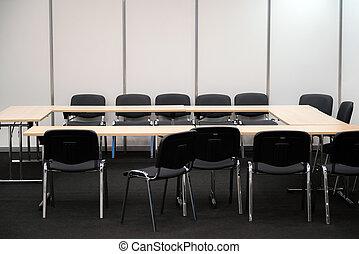 事務, room., 決定, 椅子, 書桌, 做, 會議, 空