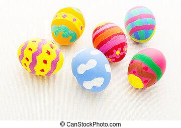 亞麻布, 顏色, 蛋, 背景, 復活節