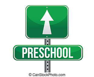 交通, 幼儿園, 路標
