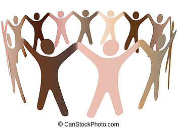 人人們, 多种多樣, 音調, 皮膚, 戒指, 混合