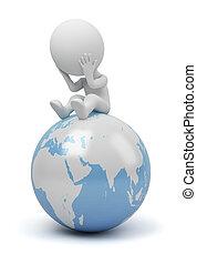 人們, -, 全球, 問題, 小, 3d