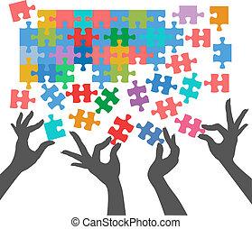 人們, 加入, 難題, 發現, 連接