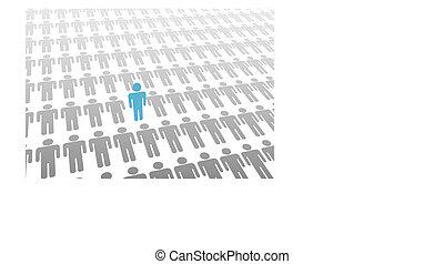 人們, 向上, 一, 下來, 人, 站, 世界, 位置