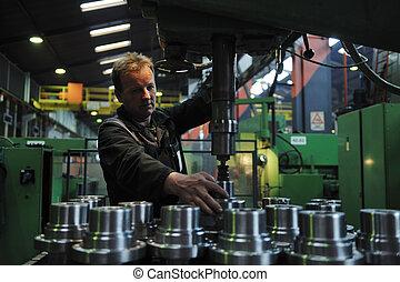 人們, 工人, 工廠, 工業