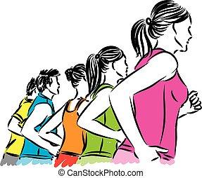 人們, 插圖, 矢量, 健身, 組
