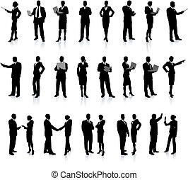 人們, 黑色半面畫像, 超級, 集合, 事務
