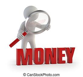 人們, lupe, 錢, -, 小, 3d