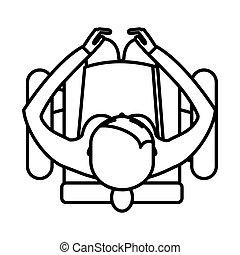 人坐, 事務, 扶手椅子