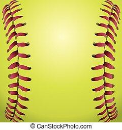 人物面部影像逼真, 帶子, 背景, 壘球