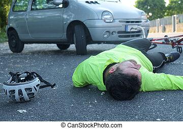人, 以後, 自行車, 昏倒, 事故