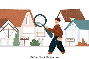 人, 房子, 搜尋
